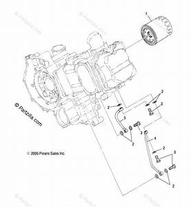 Polaris Side By Side 2013 Oem Parts Diagram For Engine  Oil Filter