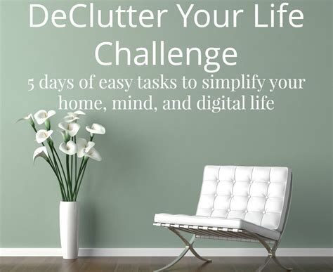 Free Declutter Your Life Challenge