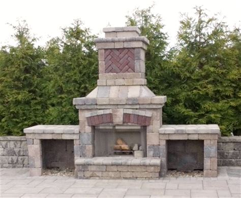unilock fireplace cost concrete block outdoor fireplace unilock outdoor