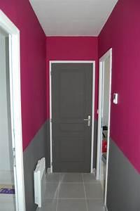 Porte De Couloir : charmant peinture porte couloir et dacoration couloir long et a troit inspirations photo ~ Nature-et-papiers.com Idées de Décoration