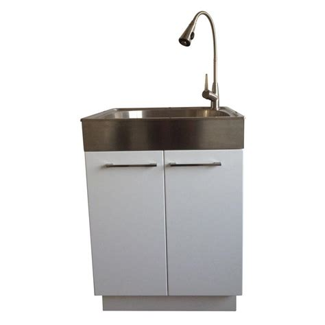 stainless steel laundry room sink presenza all in one 24 2 in x 21 3 in x 33 8 in