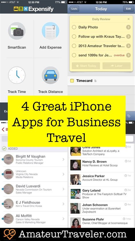 Best Business Apps For Iphone by 4 Great Iphone Apps For Business Travel Traveler