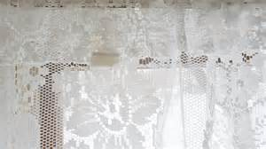 vintage shabby floral chic white lace jc penney curtain valance 19 quot x 58 quot ebay