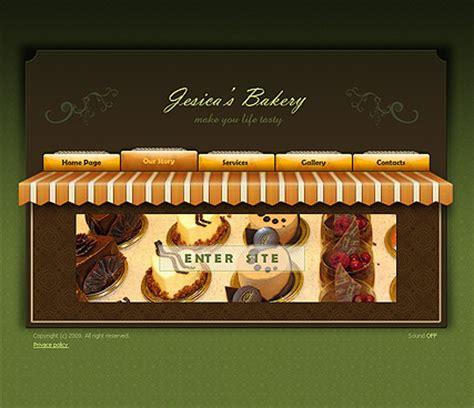 bakery flash website template  website templates