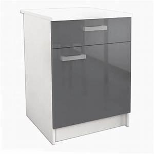 Meuble Avec Plan De Travail : start meuble bas de cuisine l 60 cm avec plan de travail ~ Dailycaller-alerts.com Idées de Décoration