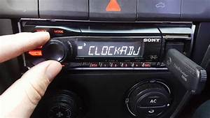 Configurar Reloj De Stereo Sony Xplod Dsx-a35u