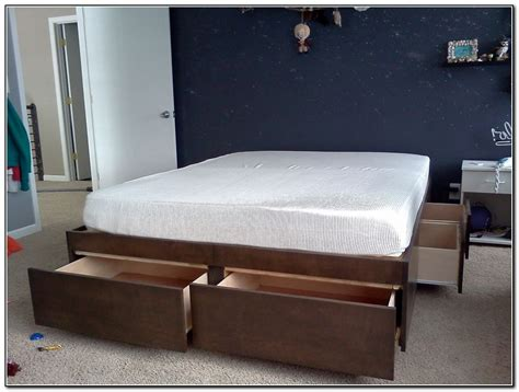 bed with drawers underneath bed frame with drawers underneath beds home