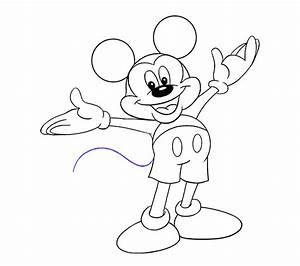 How To Draw Mickey Mouse Easy Drawing Guides