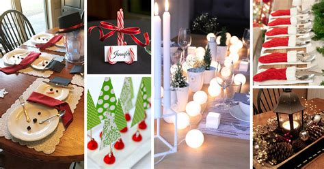 homemade christmas table decoration all ideas about