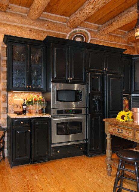 distressed kitchen cabinets 94 best log cabin kitchen ideas images on 3377