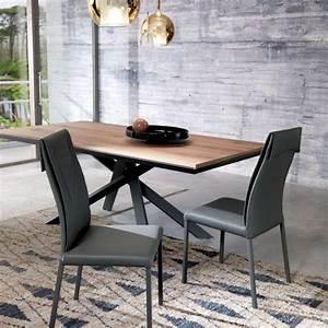 Table En Metal : table design extensible rectangulaire en bois et m tal 4x4 4 ~ Teatrodelosmanantiales.com Idées de Décoration