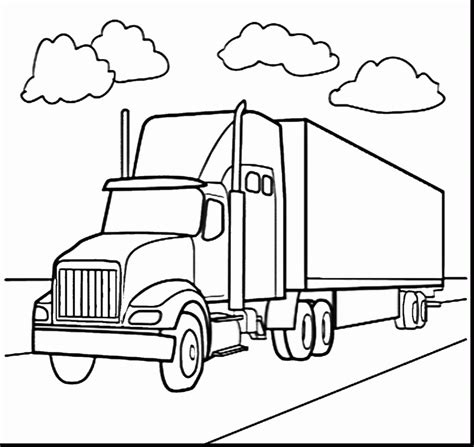 Semi Trucks Coloring Pages 2677483