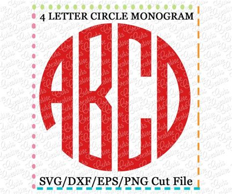 exclusive  letter circle monogram font svg eps dxf cutting