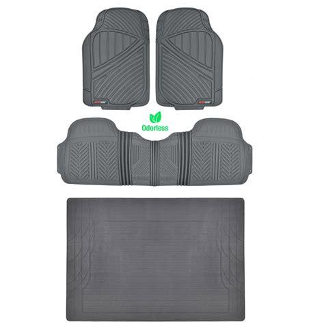 all weather mats gray 4pc rubber floor mat car suv heavy duty all weather