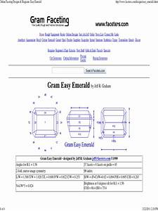 Online Faceting Designs  U0026 Diagrams  Easy Emerald