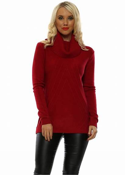 Polo Neck Jumper Classic Cmp Jumpers Baggy