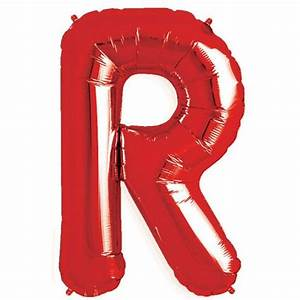 buy red letter r balloon 3439 foil from our red range tesco With red mylar letter balloons