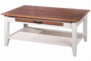 Table Basse Rectangulaire Blanche : table basse rectangulaire en bois 100 x 60 cm blanche cassala design sur sofactory ~ Teatrodelosmanantiales.com Idées de Décoration