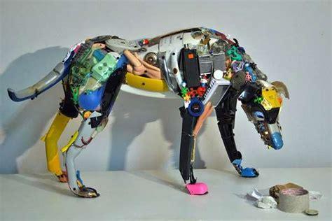 recycled robotic figures dario tironi