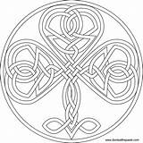 Shamrock Coloring Knot Celtic Pages Adult Knotwork Designs Heart Mandala Pattern Knots Patterns Embroidery Printable Format Transparent Colouring Paste Outline sketch template