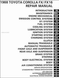 1988 Toyota Corolla Fwd Wiring Diagram Manual Original
