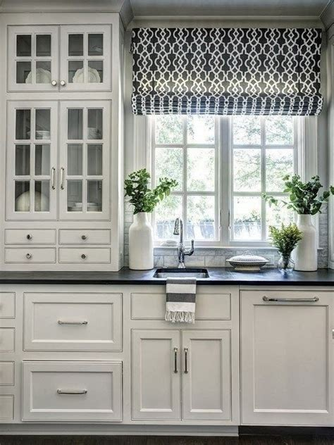 kitchen cabinets with glass best 25 kitchen window curtains ideas on 6470