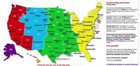 dst utc gmt time zone map usa whatsanswer