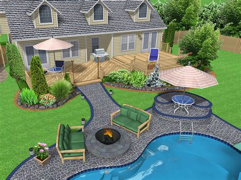 backyard layout ideas landscape design software gallery page 3