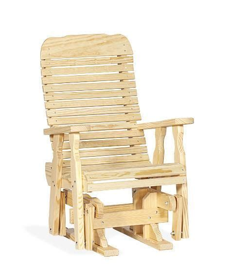 amish pine wood easy single glider outdoor glider chair