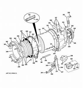 Assembly View For Tub  U0026 Motor
