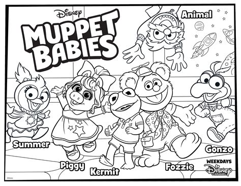 muppet babies coloring page   kids disney family