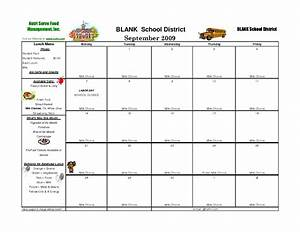 7 best images of printable blank lunch menus school With free school lunch menu templates