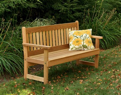 Benches : Red Cedar English Garden Bench