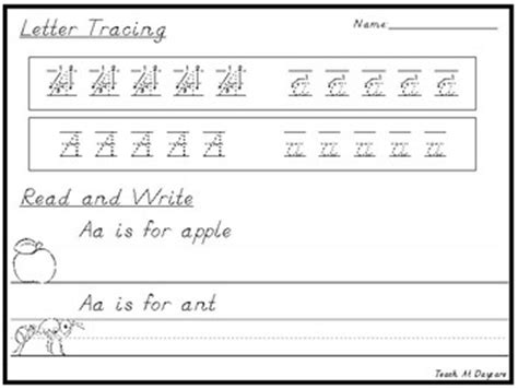 d nealian handwriting letter tracing and read and write worksheets