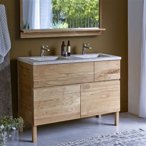 cuisine plan de travail bois massif meuble en chne et vasques rsine easy duo vente meubles