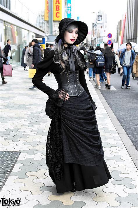 harajuku gothic lace street style w abilletage corset