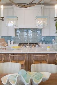 kitchen with blue backsplash and blue lanterns cottage With kitchen back splashes with blue