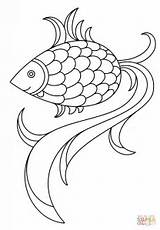 Fish Coloring Cartoon Pages Colouring Sea Supercoloring Drawing Printable sketch template