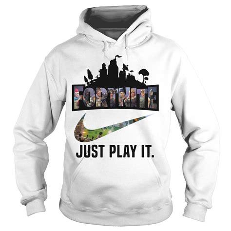 Hoodie Zipper Sweater Logo Nike fortuitous fortnite just play it logo nike shirt