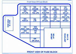 Pontiac Grand Se 1997 Fuse Box  Block Circuit Breaker
