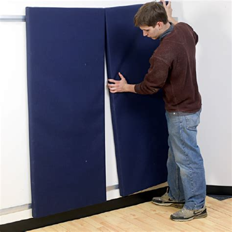 gym wall pads  ft  clip  impact foam astm