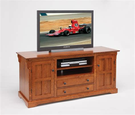 amish solid wood tv stand  door drawers