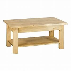 Table Basse Bois Brut : table basse en bois brut 100 cm pr t peindre achat ~ Melissatoandfro.com Idées de Décoration
