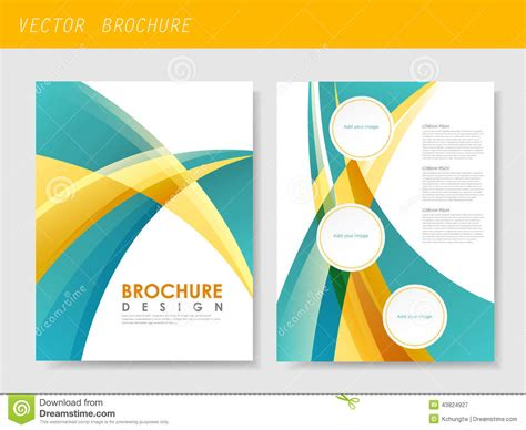 Modern Streamlined Flyer Template For Business Stock
