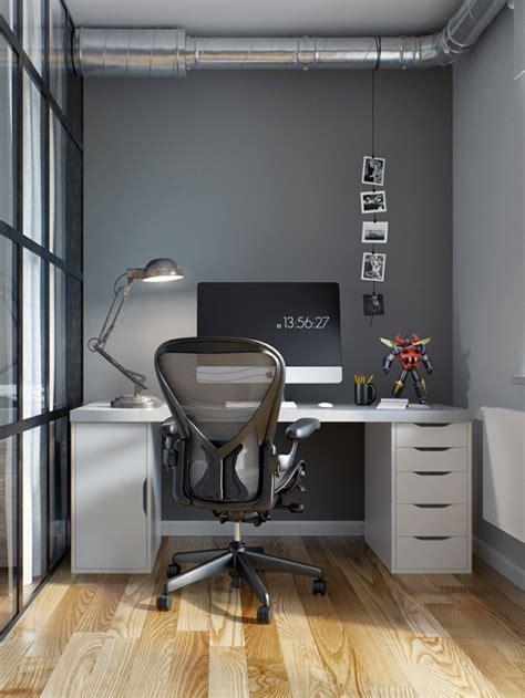 bureau appartement intérieur design moderne pour un petit appartement à minsk