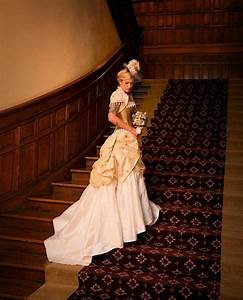 Steampunk wedding dresses and bridal hats for Wedding dress steaming