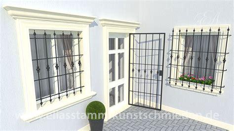 fenstergitter in der laibung geschmiedete gitter f 252 r fenster und balkone eliasstamm