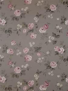 Tapete Auf Tapete Kleben : details zu aromas vlies tapete 623 3 floral blumen rosa grau landhaus stil euro m ~ Markanthonyermac.com Haus und Dekorationen