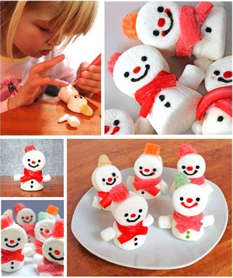 wonderful diy cute marshmallow snowman treats for christmas