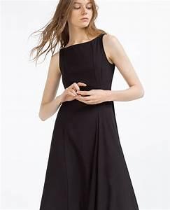 Robe mi longue noire zara sans manche classique la robe for Robe longue pas cher zara